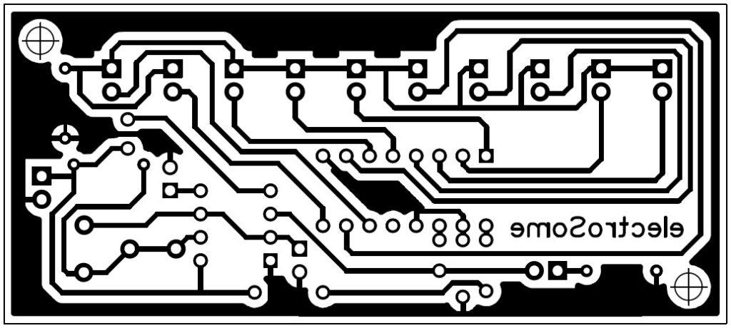 CD4017 VE NE555 Devresinin PCB Şeması