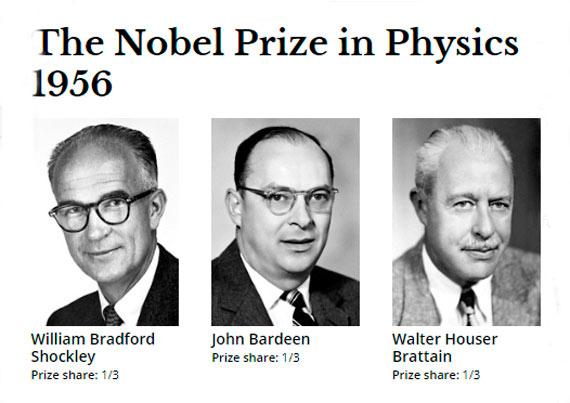 1956 Nobel Fizik Ödülü